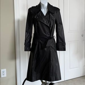 Balenciaga Italian Leather Trench Coat